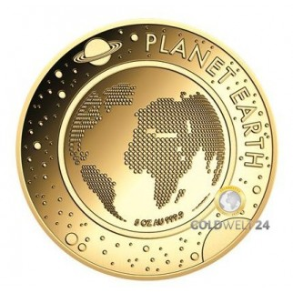 5 Unzen Gold Planet Erde 2016