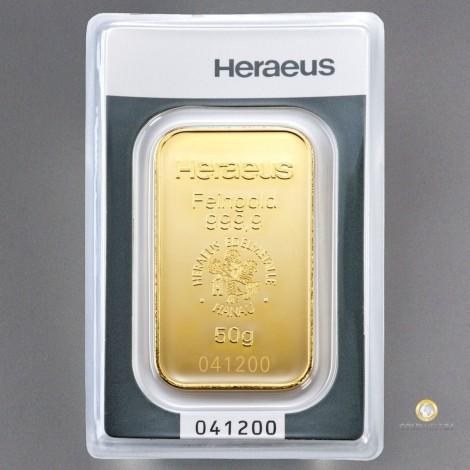 50g Goldbarren Heraeus