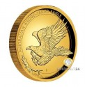 2 Unzen Gold Wedge Tailed Eagle 2015 High Relief PP