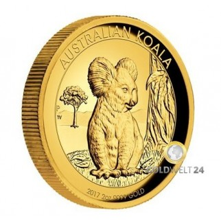 2 Unzen Gold Koala High Relief 2017