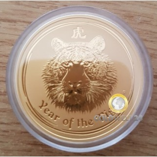 2 Unzen Gold Lunar Tiger 2010