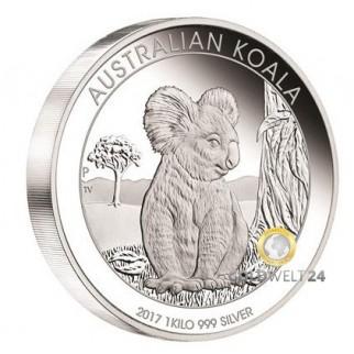 1kg Silber Koala 2017 PP