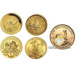 100*1/10 Unze Anlagemünzenmix