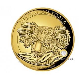 1 Unze Gold Koala High Relief 2014