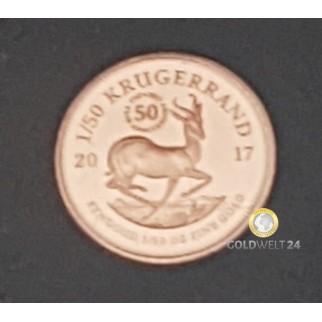 1/50 Unze Gold Krügerrand 2017 Jubiläumsausgabe