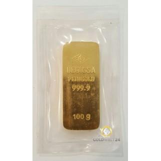 100g Goldbarren 2. Hand
