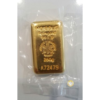 250g GoldbarrenHeraeus
