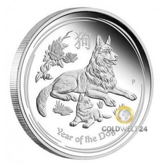 1 kg Silber Lunar Hund 2018 PP