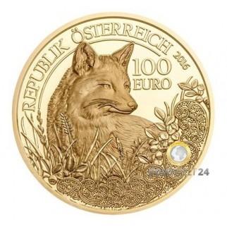 100€ Wildtiere Österreich 2016 Rotfuchs PP
