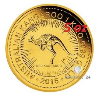 5 Unzen Gold Känguru Nugget 2015