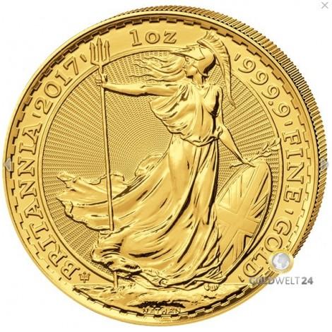 1 Unze Gold Britannia 2017