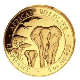 5 Unzen Gold Somalia Elefant 2015