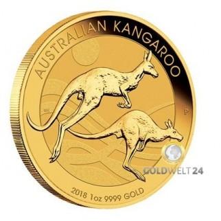 1 Unze Gold Känguru Nugget 2018