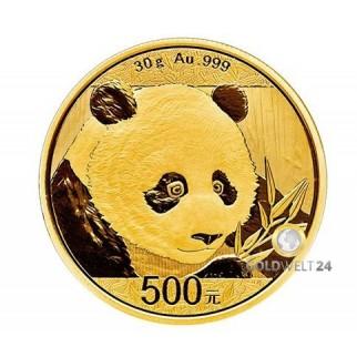 30g Gold China Panda 2018
