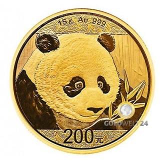 15g Gold China Panda 2018