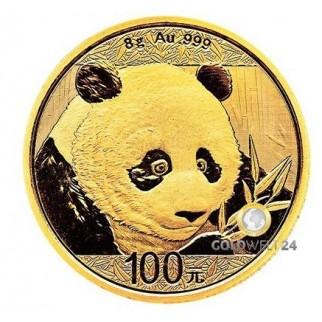 8g Gold China Panda 2018