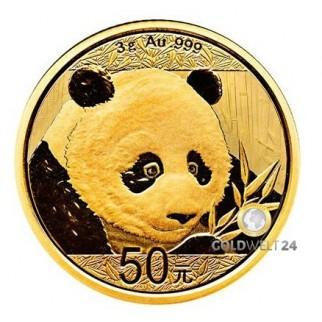 3g Gold China Panda 2018