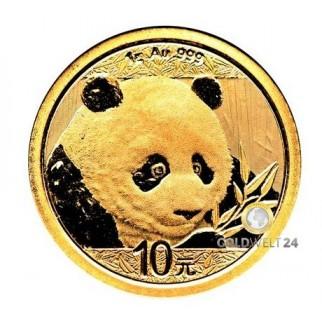 1g Gold China Panda 2018