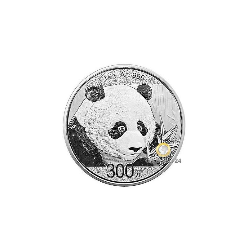 1 kg silber china panda 2018 polierte platte. Black Bedroom Furniture Sets. Home Design Ideas