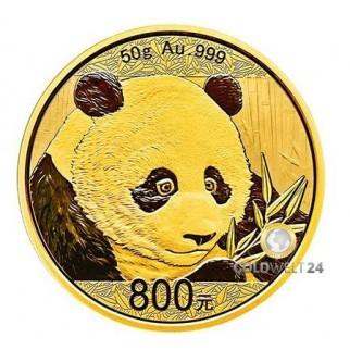50g Gold China Panda 2018 PP (inkl. Box und Zertifikat)