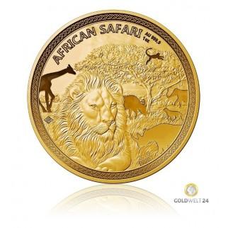 1 Unze African Safari Gold Löwe 2018 PP