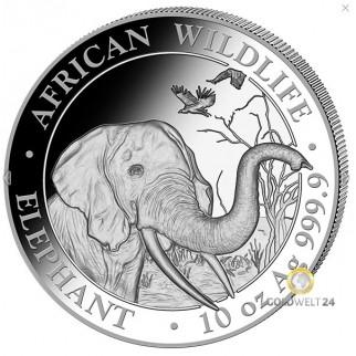 10 Unzen Silber Somalia Elefant 2018