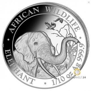 1/10 Unze Silber Somalia Elefant 2018