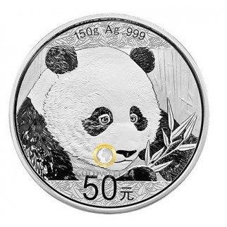 150g Silber China Panda 2018 (Polierte Platte)
