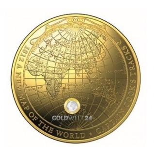 1 Unze Gold Neue Weltkarte 1812 PP