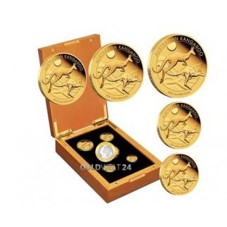 5 Coin Set Känguru Nugget 2018 Polierte Platte