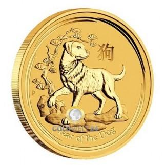 2 Unzen Gold Lunar Hund 2018