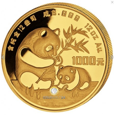 1000 Yuan Gold China Panda 1986 PP (gekapselt)