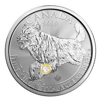 1 Unze Silber Wolf 2018 (Raubtier Serie)