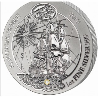 1 Unze Silber Nautical Ounce Endeavour 2018 PP