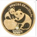 500 Yuan Gold China Panda 1987 Proof in Kapsel mit Box