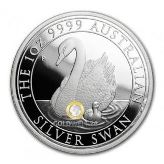1 Unze Silber Australien Schwan 2018 Polierte Platte