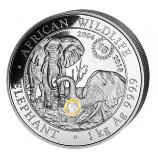 1 Kilo Silber Somalia Elefant Jubiläum 2004-2018