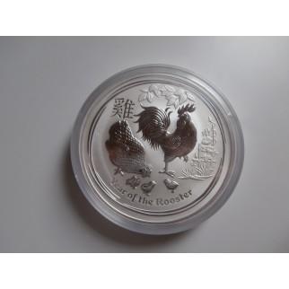 1 kg Silber Lunar Hahn 2017