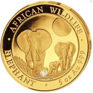 5 Unzen Gold Somalia Elefant 2014 PP
