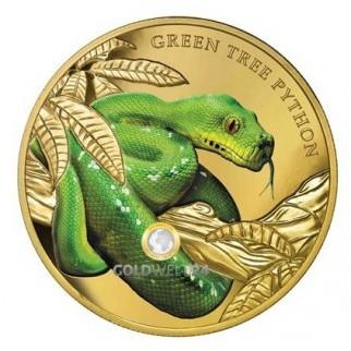 1 Unze Gold Grüner Baumpython 2019 PP