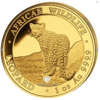 1 Unze Gold Somalia Leopard 2018