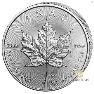1 Unze Silber Maple Leaf 2017