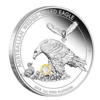 1 Unze Platin Wedge Tailed Eagle 2018