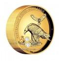 1 Kilo Gold Wedge Tailed Eagle 2018 Polierte Platte