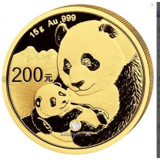 15g Gold China Panda 2019