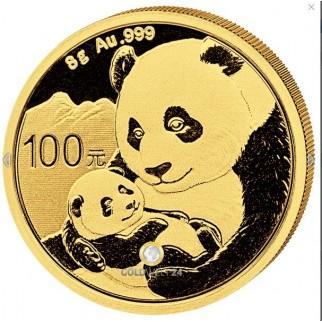 8g Gold China Panda 2019