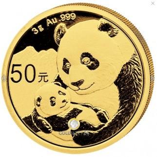 3g Gold China Panda 2019