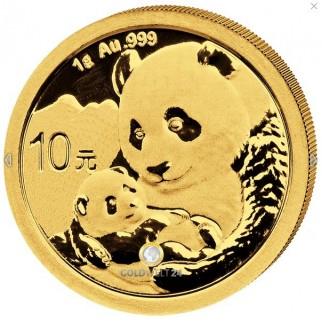 1g Gold China Panda 2019