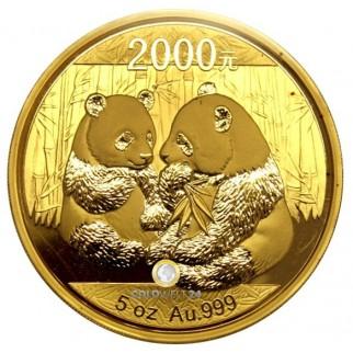 5 Unzen Gold China Panda 2009 PP (inkl. Box und Zertifikat)