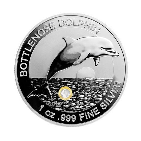 1 Unze Silber Bottlenose Dolphin (Delfin) 2019